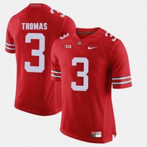 Mens OSU Buckeyes Alumni Football Game #3 Michael Thomas college Jersey - Scarlet