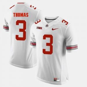 Men's Alumni Football Game Buckeyes #3 Michael Thomas college Jersey - White