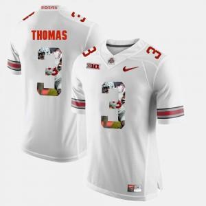 Mens #3 Ohio State Pictorial Fashion Michael Thomas college Jersey - White