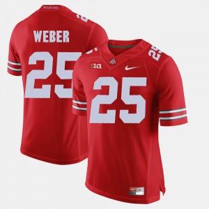 Men's Alumni Football Game #25 Buckeye Mike Weber college Jersey - Scarlet