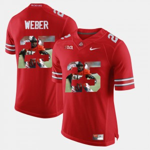 Men #25 Ohio State Pictorial Fashion Mike Weber college Jersey - Scarlet