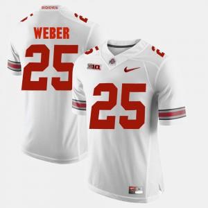 Men's Alumni Football Game #25 Ohio State Mike Weber college Jersey - White