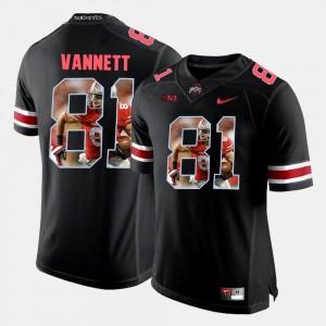 Men #81 Ohio State Buckeye Pictorial Fashion Nick Vannett college Jersey - Black