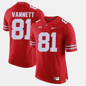 Men Alumni Football Game #81 Buckeye Nick Vannett college Jersey - Scarlet