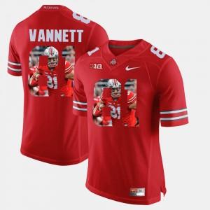 Men's OSU #81 Pictorial Fashion Nick Vannett college Jersey - Scarlet
