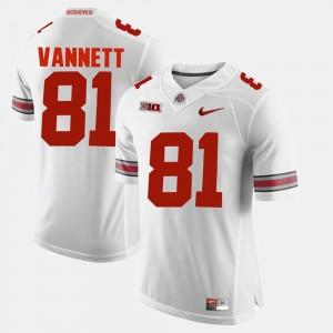 Mens #81 Alumni Football Game Ohio State Buckeye Nick Vannett college Jersey - White