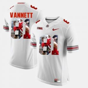 Men Pictorial Fashion #81 OSU Buckeyes Nick Vannett college Jersey - White