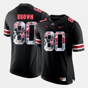 Men Pictorial Fashion Ohio State #80 Noah Brown college Jersey - Black