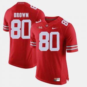 Men Buckeyes #80 Alumni Football Game Noah Brown college Jersey - Scarlet