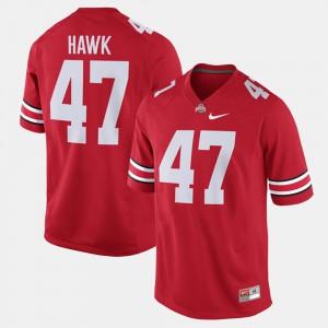 Men's Alumni Football Game OSU #47 A.J. Hawk college Jersey - Scarlet