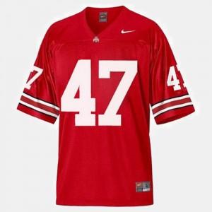 Men #47 A.J. Hawk college Jersey - Red Football OSU Buckeyes