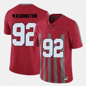 Men Ohio State Buckeyes #92 Football Adolphus Washington college Jersey - Red