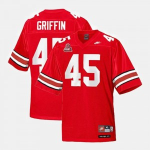 Kids #45 Ohio State Football Archie Griffin college Jersey - Red