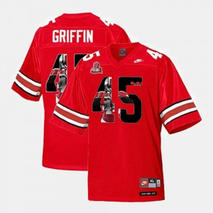 Men Throwback #45 Buckeyes Archie Griffin college Jersey - Scarlet