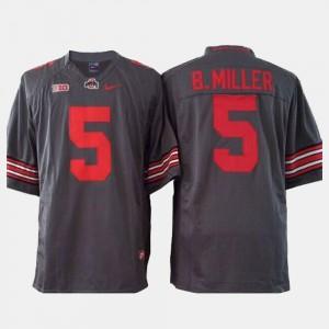 Men #5 Football Buckeye Braxton Miller college Jersey - Gray