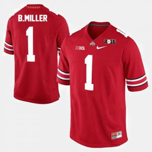 Men's OSU #1 Football Braxton Miller college Jersey - Red