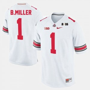 Men #1 Braxton Miller college Jersey - White Football OSU Buckeyes