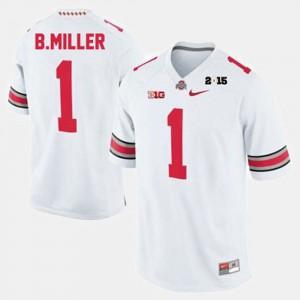 Men #1 Braxton Miller college Jersey - White Football OSU Buckeyes