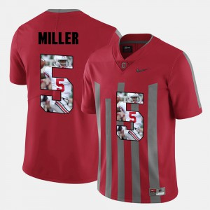 Men's Pictorial Fashion #5 Ohio State Buckeyes Braxton Miller college Jersey - Red