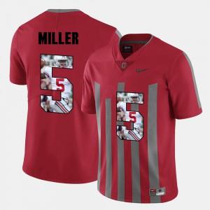 Men's Pictorial Fashion #5 Ohio State Buckeyes Braxton Miller college Jersey - Red