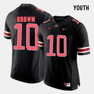 Youth(Kids) #10 CaCorey Brown college Jersey - Black Football Buckeye