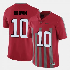 Mens Football #10 Buckeye CaCorey Brown college Jersey - Red