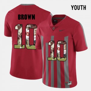 Kids Ohio State #10 Pictorial Fashion CaCorey Brown college Jersey - Red