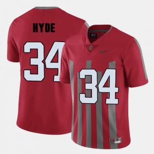 Men Buckeyes Football #34 CameCarlos Hyde college Jersey - Red