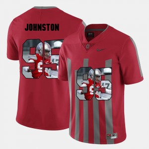 Men's Pictorial Fashion #95 Ohio State Cameron Johnston college Jersey - Red