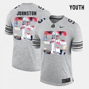 Youth #95 OSU Pictorial Gridiron Fashion Pictorital Gridiron Fashion Cameron Johnston college Jersey - Gray