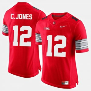 Men's Ohio State Football #12 Cardale Jones college Jersey - Red