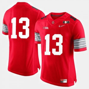 Mens Football Buckeyes #13 college Jersey - Red