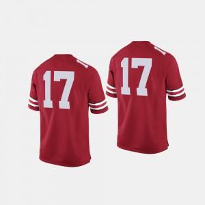 Mens #17 Buckeye Football college Jersey - Scarlet