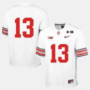 Men Ohio State Buckeyes Football #13 college Jersey - White