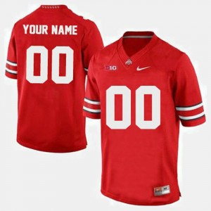 Men's Ohio State #00 Football college Custom Jersey - Red
