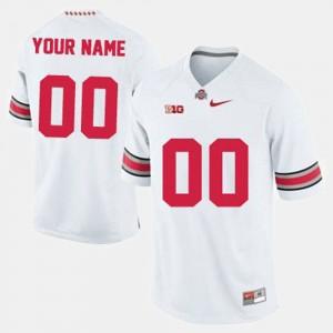Men's Ohio State Buckeyes #00 Football college Custom Jerseys - White