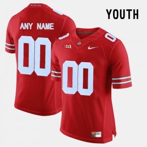 Kids Limited Football #00 OSU college Custom Jerseys - Red