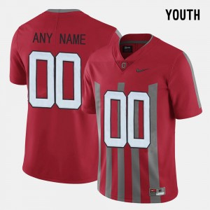 Youth Ohio State Buckeyes #00 Throwback college Customized Jerseys - Red