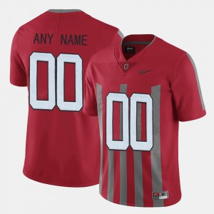 Men's Throwback #00 Ohio State college Customized Jerseys - Red