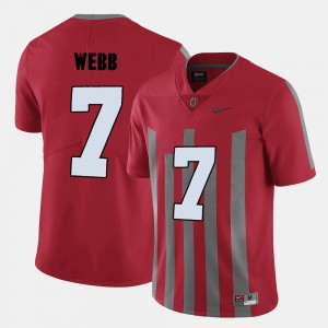 Men Football OSU #7 Damon Webb college Jersey - Red