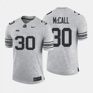 Men's Buckeye #30 Gridiron Limited Gridiron Gray Limited Demario McCall college Jersey - Gray