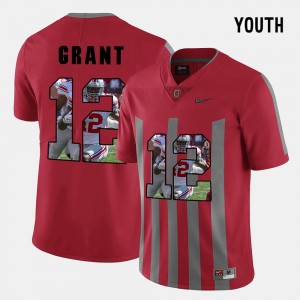 Youth Ohio State Pictorial Fashion #12 Doran Grant college Jersey - Red