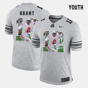 Kids Ohio State #12 Pictorial Gridiron Fashion Pictorital Gridiron Fashion Doran Grant college Jersey - Gray