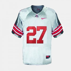 Youth #27 Ohio State Football Eddie George college Jersey - Gray