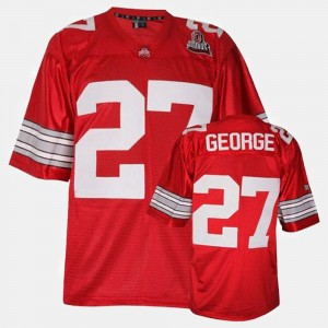 Mens Ohio State Buckeyes Football #27 Eddie George college Jersey - Red
