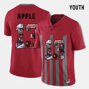 Kids Pictorial Fashion #13 Ohio State Buckeyes Eli Apple college Jersey - Red