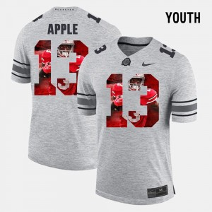 Youth Pictorital Gridiron Fashion #13 Buckeyes Pictorial Gridiron Fashion Eli Apple college Jersey - Gray