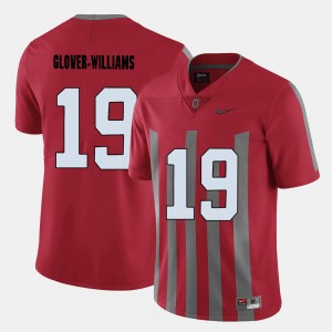 Men Football Ohio State #19 Eric Glover-Williams college Jersey - Red