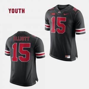 Kids #15 Football OSU Buckeyes Ezekiel Elliott college Jersey - Black