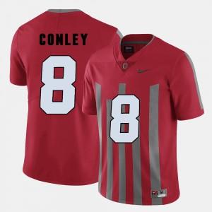 Men's Football Buckeye #8 Gareon Conley college Jersey - Red